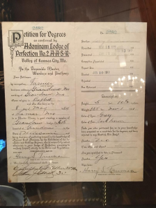 Harry S Truman Scottish Rite Petition